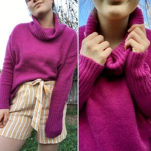 Merino Wool Magenta Sweater